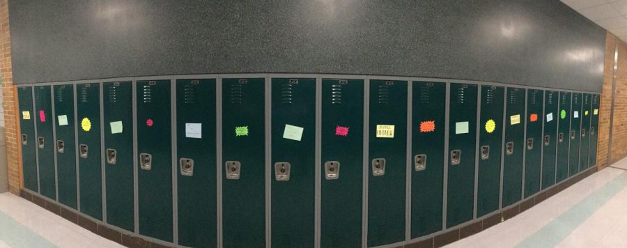Lockers decorated at EPCHS.