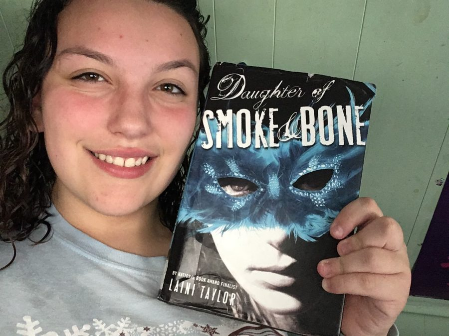 This is a selfie of myself with the book.